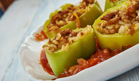 Filfil Mahshi - Stuffed Peppers, delicious Middle Eastern dish