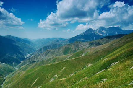 Kaldama pass, 3062 m , Mountain road district of Jalal-Abad Region in western Kyrgyzstan.
