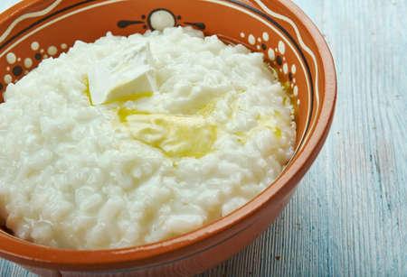 Risengrod - Scandinavian Rice Porridge, traditionally served on Christmas Eve in Denmark and Sweden