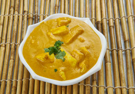 Lahsooni Methi Paneer,  garlic flavored cottage cheese cooked in a creamy gravy with either fresh or dried fenugreek leaves