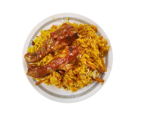 Bukhari Rice, Arabic as Ruz al Bukhari,  aromatic and flavorful Middle Eastern rice