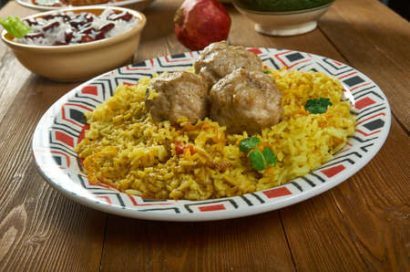 Kofta och, Meatball Pilaf, Central Asian Cuisine