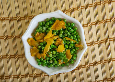 Matar ki Ghugni - Spicy Green Peas Snack, evening snack in Eastern India , made with fresh green peas