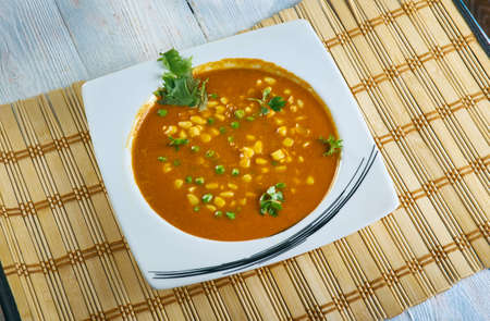 Makai Dilbahar -  North Indian Style Curried, made with Methi eaves, green peas, and corn kernels