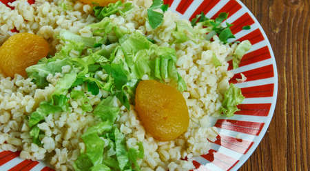 Armenian Bulgur Salad Eetch, similar to tabbouleh
