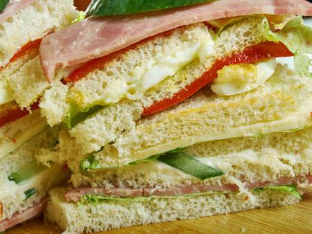 Sandwiches de miga, popular food items in Argentina, Chile and Uruguay 写真素材