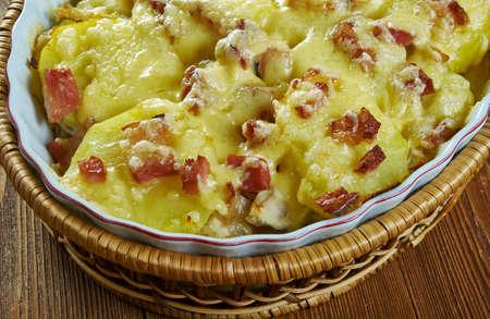 Chicken Tartiflette, French  Chicken Gratin