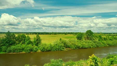 River Neman at summer day, Belarus. Stock fotó