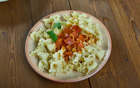 Campanelle pasta Sauce vierge