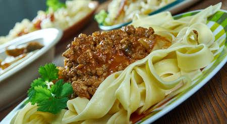 Ragu alla bolognese, Bolognese sauce with fettuccino paste