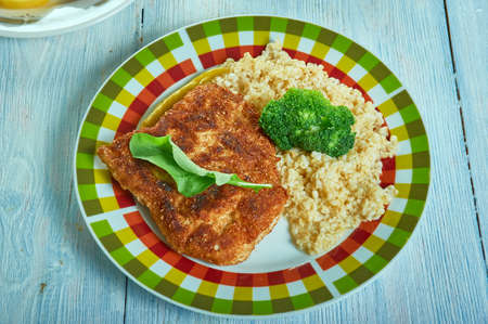 Chili Lime Cod Fillets, flavorful spice mixture before roasting to perfection Stock Photo
