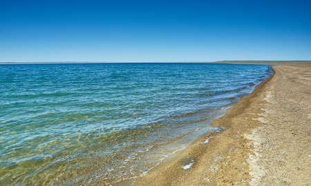 Khyargas Nuur salt lake in Khyargas district, Uvs Province, Western Mongolia