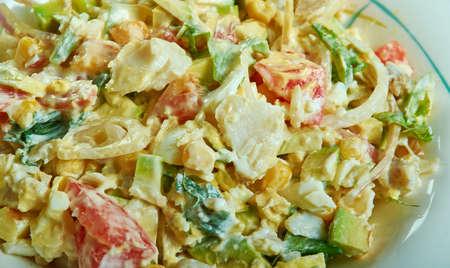 Gazpacho - Insalata di baccalà portoricano, insalata rinfrescante composta da baccalà a scaglie.