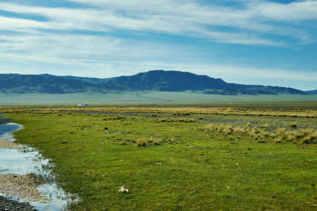 Uureg Nuur Lake, saline lake in an endorheic basin in western Mongolia.