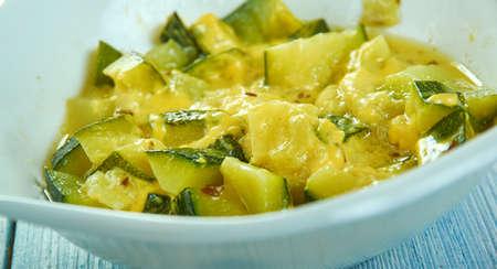 Indian pumpkin  - Sweet and Sour Zucchini Zdjęcie Seryjne