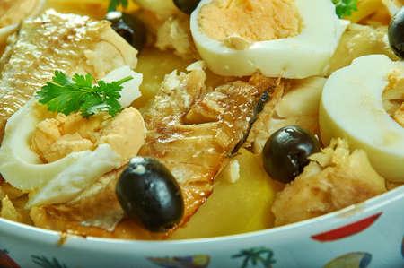 Bacalao or Bacalhoada, Portuguese salt cod stew