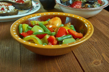 Suoman Gush Siz - Kashgar delicious dish of vegetables, peppers,Xinjiang cuisine , Uighur food