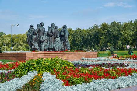 Vitebsk city in Belarus, August 8, 2019, Memorial complex in honor of Soviet soldiers