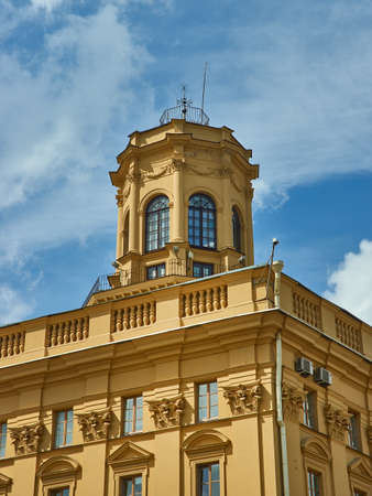 Minsk, Belarus. Independence Avenue, Stalinist Empire style.
