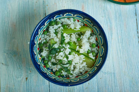 Enginarli Pilav, Turkish pilaf with artichokes and herbs