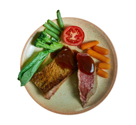 Fillet of Beef Prince Albert, preparing a fillet of beef  which was named  in honour of the husband of Queen Victoria. 스톡 콘텐츠 - 133981320