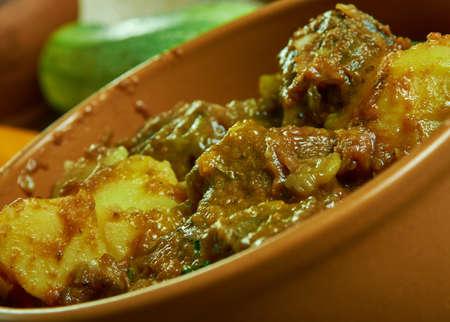Asado de res y verduras, Mexican stew with fried beef and vegetables