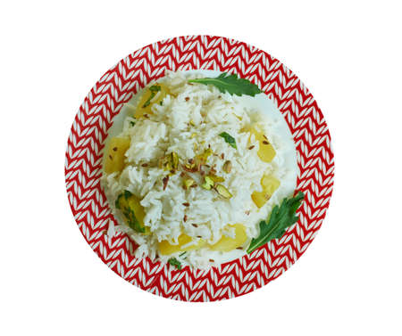 Patatesli Pirinc Pilavi, Turkish rice with potatoes and spices