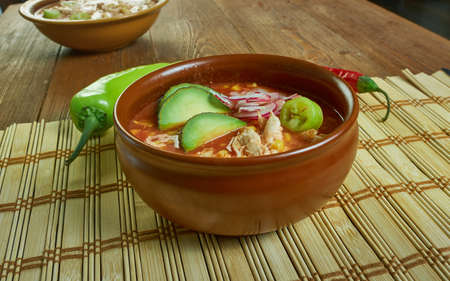 Taco Ranch Chicken Chili, made with just 5 ingredients in a slow cooker or instant pot 免版税图像