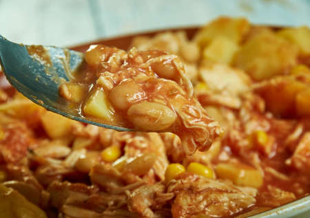 Georgia-Style Brunswick Stew, made with either chicken or pork and flavored with barbecue sauce