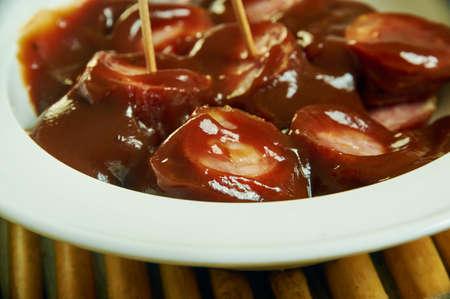 Crock Pot Kielbasa Bites Recipe, BBQ Ranch, combine Barbecue Sauce dry Buttermilk Ranch Dressing Mix