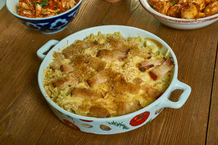 Red Hot Chipotle Bacon Mac and Cheese ,Chipotle peppers in adobo provide the heat, red bell peppers the bright color, and bacon lends its smokiness to this garlic-infused mac and cheese