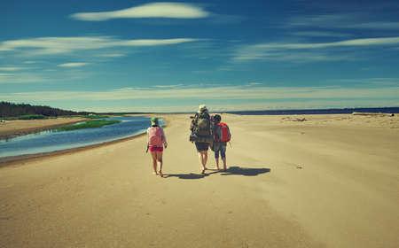 camping trip , Summer Coast , White Sea,  vicinity Nyonoksa , family trip along the coast