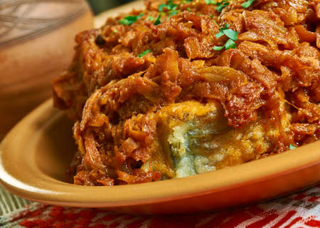 Pomeranian recipe Cod carrot onion marinade, Russian northern traditional cuisine