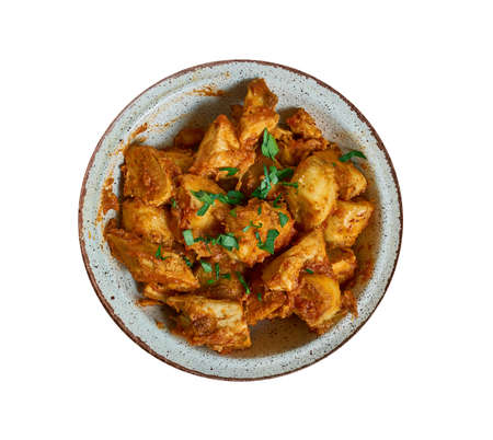Kondres  - Spicy Stewed Plantains, popular Cameroonian one-pot meal with highly-seasoned spicy stewed plantains, meat and veggies