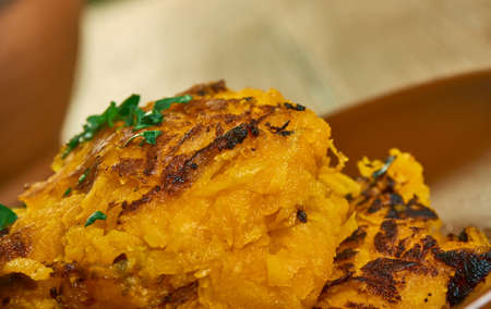 Butternut Squash Chili Pepper Latkes, favorite flavor combinations close up