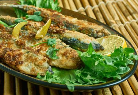 Turkish-Style Fried Fried Anchovy - Hamsi Tava, Turkish Food