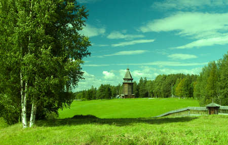traditional russian old-time landscape,slavonic riddle
