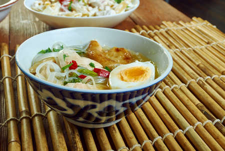 Chicken Sotanghon Soup, Filipino-style soup made with bite-sized chicken, cellophane noodles and vegetables