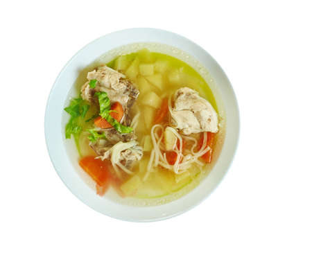 Guriltai Shul - Mongolian Noodle Soup.Made with chicken, veggies, gluten free rice noodles