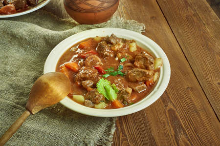 Railway lamb curry,  delicious Anglo-Indian recipe  close up