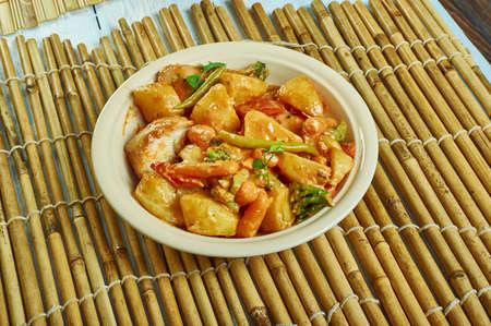 Chicken Tabse Mamr, Kurdish Food close up