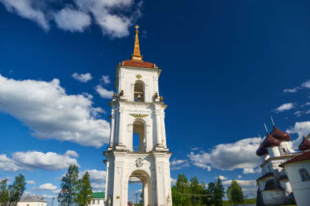 Belfry on the Cathedral Square. Kargopol, Arkhangelsk Region, Russia