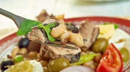 Tuna bean  salad - classic Italian salad