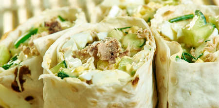 Low-Calorie and Low-Fat Tuna Salad Sandwich Roll
