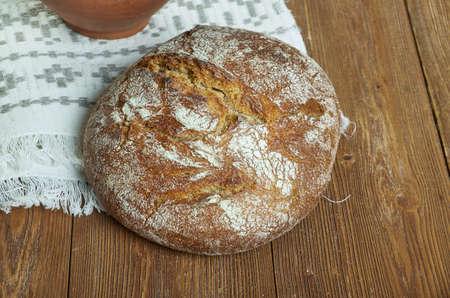 Razny Chlieb - Slovak homemade Rye Bread close up