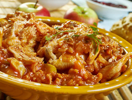 Alitas de pollo en salsa picante - Chicken with hot Peruvian Spicy Sauce