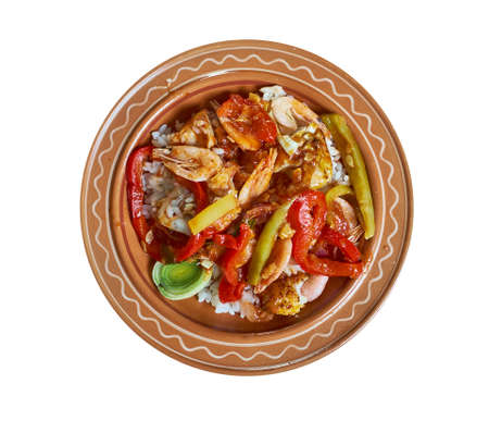 Melitzana Sta Karvouna - Greek, Grilled eggplant Stock fotó