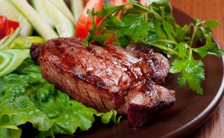 Carne Marinhoa - Portuguese beef meat is uniquely tender and juicy Archivio Fotografico