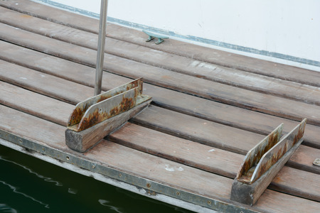 rusted: Rusted on boat equipment