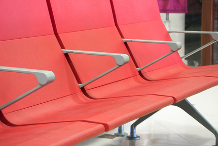seating area: Airport terminal with seat in airport